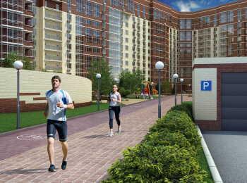 Пешеходная дорожка на территории ЖК Татьянин Парк